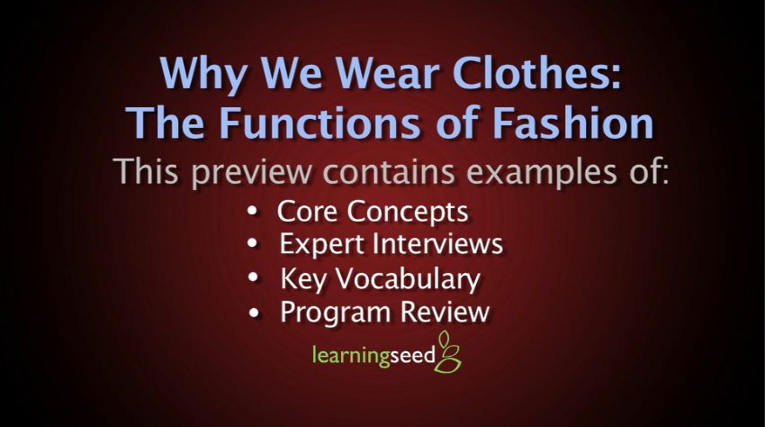 Why We Wear Clothes